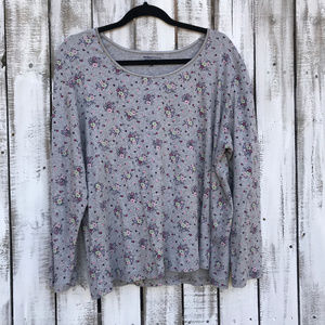 Basic Editions SZ 2X Gray with small floral top